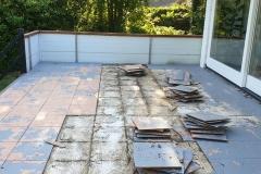 Aanleg terras Winterswijk (verwijderen oude tegels)